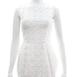 NANETTE LEPORE WHITE EYELET DRESS SIZE 6